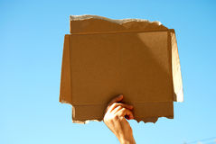 Cardboard sign Royalty Free Stock Image