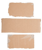 Cardboard signs Royalty Free Stock Photography