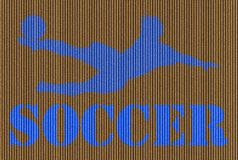 Cardboard Soccer Background Stock Photography
