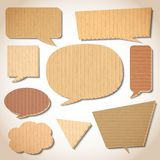 Cardboard speech bubbles set Royalty Free Stock Images