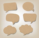 Cardboard Speech Bubbles Stock Photos