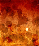 Cardboard in spots of a dirt and blood Royalty Free Stock Images