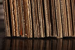 Cardboard stack on floor Stock Photography