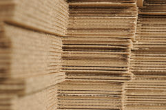 Cardboard stock. Cardboard pile, stock of packaging paper material Stock Photography
