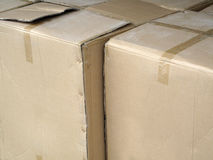 Cardboard Storage Boxes. Royalty Free Stock Photo