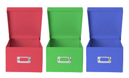 Cardboard Storage Boxes Stock Photo
