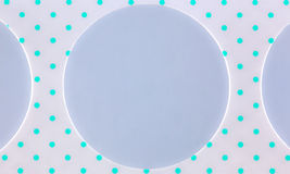 Cardboard strip with circular holes Royalty Free Stock Photography