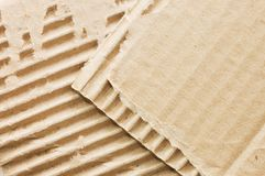 Cardboard structure. Macro. Stock Photo