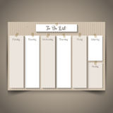 Cardboard style to do list Royalty Free Stock Images