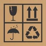 Cardboard symbols Royalty Free Stock Image