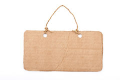 Cardboard tag Stock Images