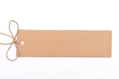 Cardboard tag Royalty Free Stock Photo