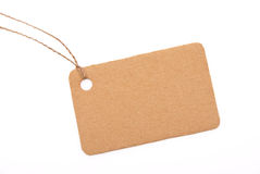 Cardboard tag Royalty Free Stock Photography