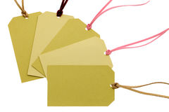 Cardboard tag Royalty Free Stock Photos