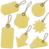 Cardboard tag collection. On white vector illustration
