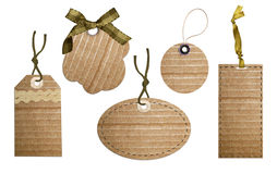 Cardboard tags Stock Images