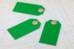 Cardboard tags Royalty Free Stock Image