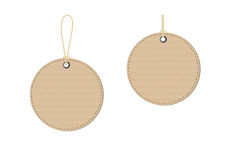 Cardboard tags. Empty cardboard tags on white background. Vector vector illustration