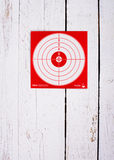 Cardboard target for shooting Stock Images