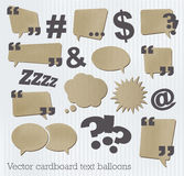 Cardboard text balloons Royalty Free Stock Images