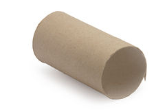 Cardboard toilet paper empty isolated Stock Images