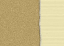 Cardboard torn paper. A digital background of a cardboard texture and a corrugated paper torn on one side. Good for memos, reminders, picture background Royalty Free Stock Images