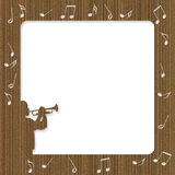 Cardboard Trumpet Player Frame Stock Image