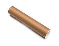 Cardboard tube Royalty Free Stock Photo