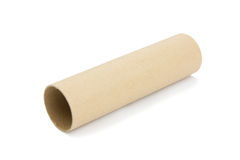 Cardboard tube. Close up of cardboard tube Royalty Free Stock Images