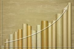Cardboard tube graph Royalty Free Stock Photos