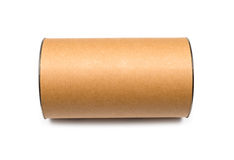 Cardboard tube isolated Royalty Free Stock Image
