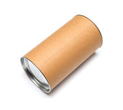 Cardboard tube isolated Stock Images