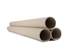 Cardboard tubes/rolls Royalty Free Stock Images