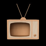 Cardboard TV Royalty Free Stock Photo