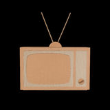Cardboard TV Royalty Free Stock Image