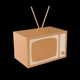 Cardboard TV Royalty Free Stock Photos