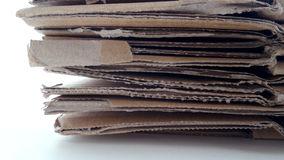 Cardboard from unfold carton. Cardboard stack from carton, recycle, reuse or sell Stock Images