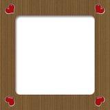 Cardboard Valentine Frame Stock Photography