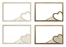 Cardboard Valentine frames for photos Royalty Free Stock Photo