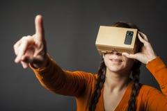 Cardboard virtual reality Stock Image