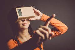 Cardboard virtual reality Stock Photo