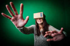 Cardboard virtual reality Royalty Free Stock Photos