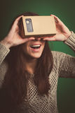 Cardboard virtual reality Royalty Free Stock Images