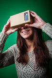 Cardboard virtual reality Stock Image