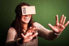 Cardboard virtual reality Royalty Free Stock Image