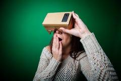Cardboard virtual reality Stock Photo
