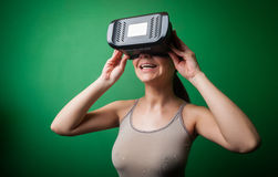 Cardboard virtual reality Stock Photos