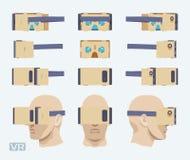 Cardboard virtual reality headset Stock Photos