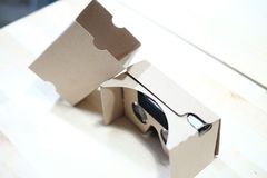 Cardboard VR Viewer for 360 Video Royalty Free Stock Image
