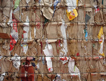 Cardboard waste Royalty Free Stock Images